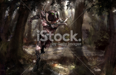 stock-photo-20600766-armored-minotaur