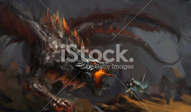 stock-photo-20819465-dragon-hunt