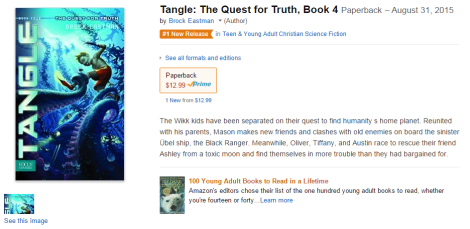 #1 New Release in Teen & Young Adult Christian Science Fiction